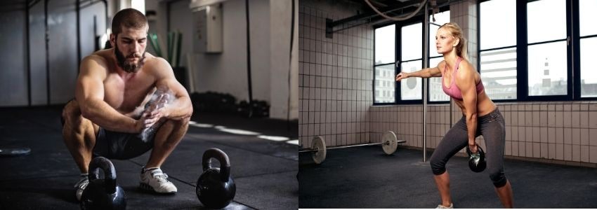 2- Kettlebell Swings, Deadlifts & Rows - HIIT Workouts